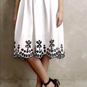 Moulinette Soeurs white skirt with eyelet detai